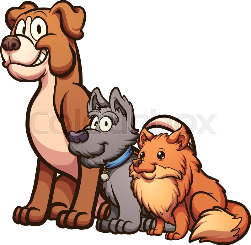 Image of: Clipart Big Medium And Small Size Cartoon Dogs Sitting Vector Clip Art Illustration With Simple Gradients Each On Separate Layer Vector Colourbox Big Medium And Small Size Cartoon Stock Vector Colourbox