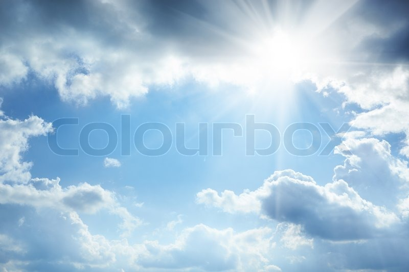 sun and white clouds - photo #15
