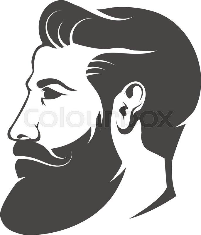 Gentleman Head With Beard And Mustache Stock Vector Colourbox