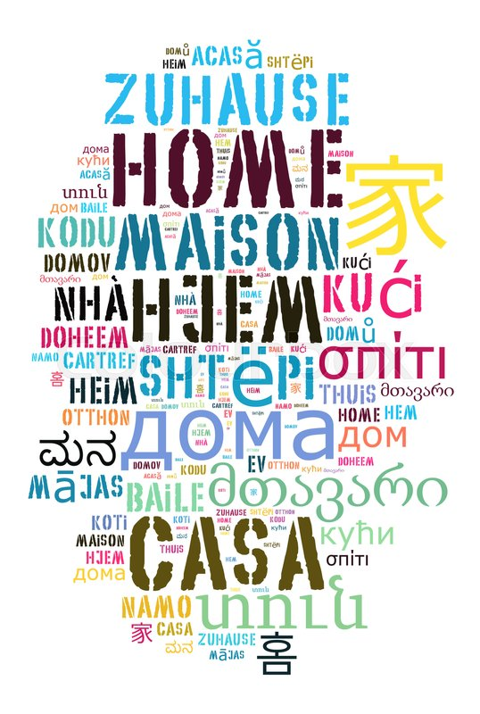 how to say home in different languages