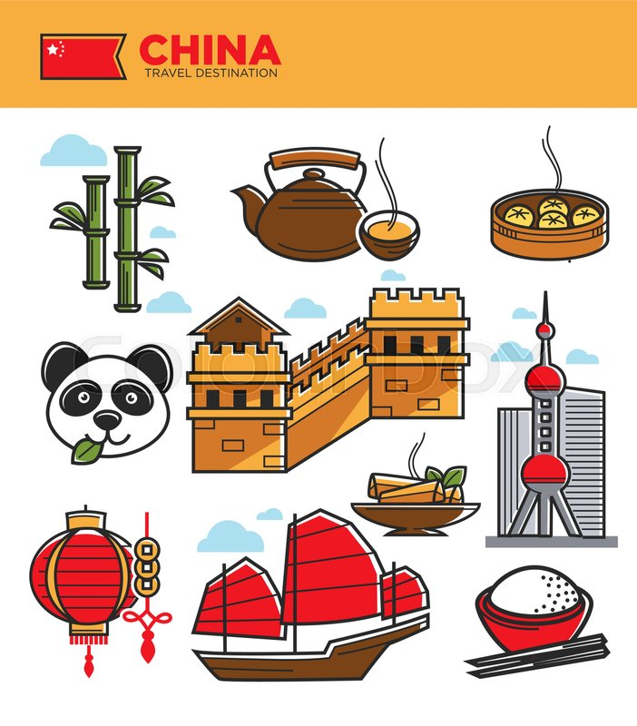 China Travel Tourism Landmarks And Culture Famous Symbols Chinese