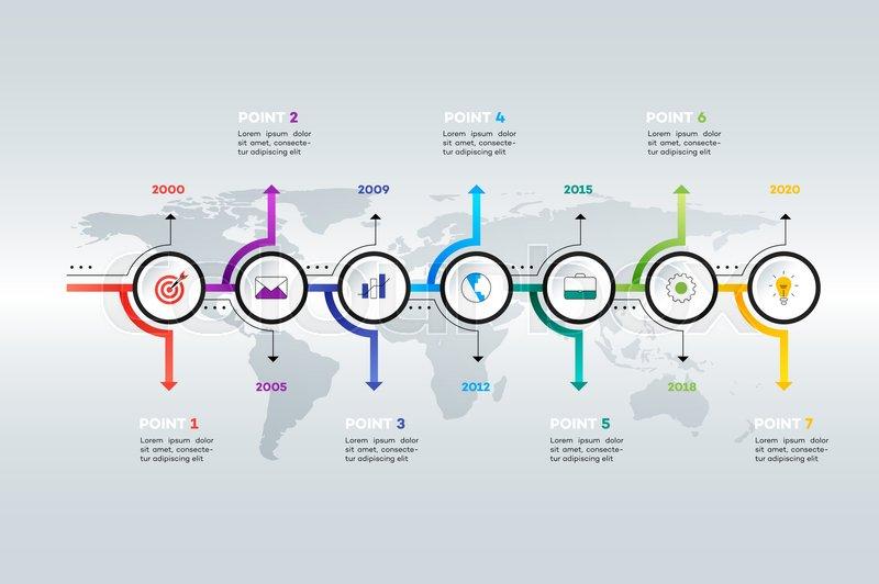 Layered Horizontal Infographic     | Stock vector | Colourbox