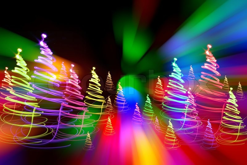 Christmas forest as very nice holiday background | Stock Photo ...