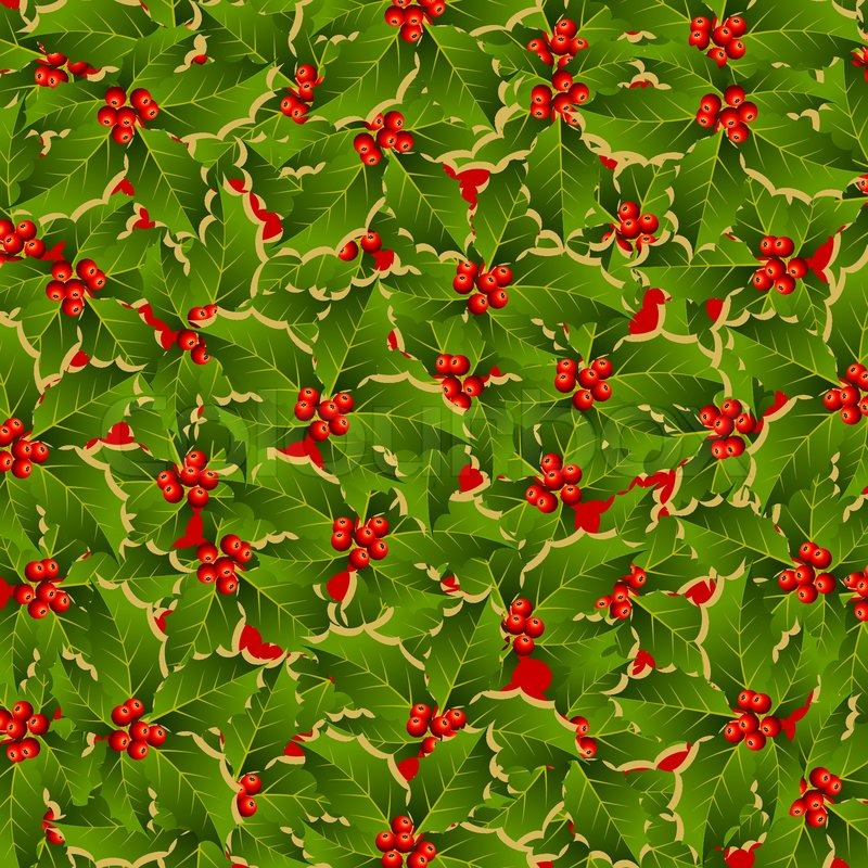 stylized holly pattern background