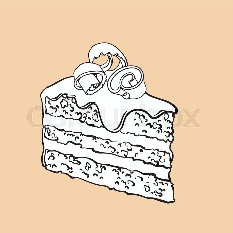 Kuchen Gezeichnet Bild Vektorgrafik Colourbox