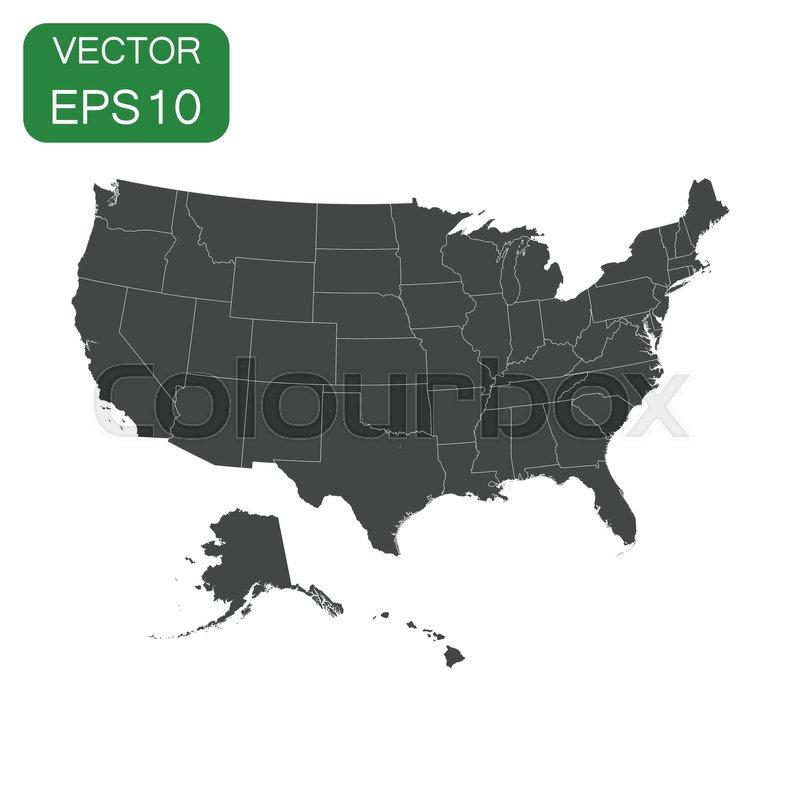 USA map icon. Business cartography ...   Stock vector ...
