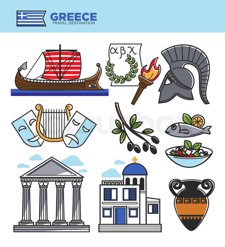 Greece Travel Tourism Landmark Symbols And Culture Famous