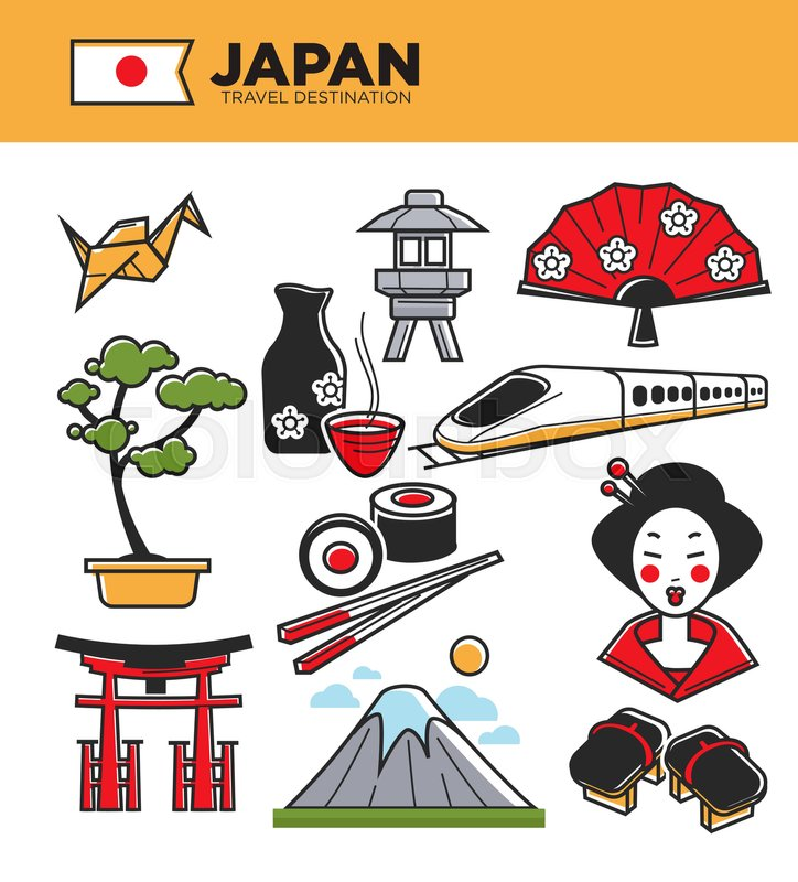 Japan Travel Famous Landmark Symbols And Culture Tourist Attraction