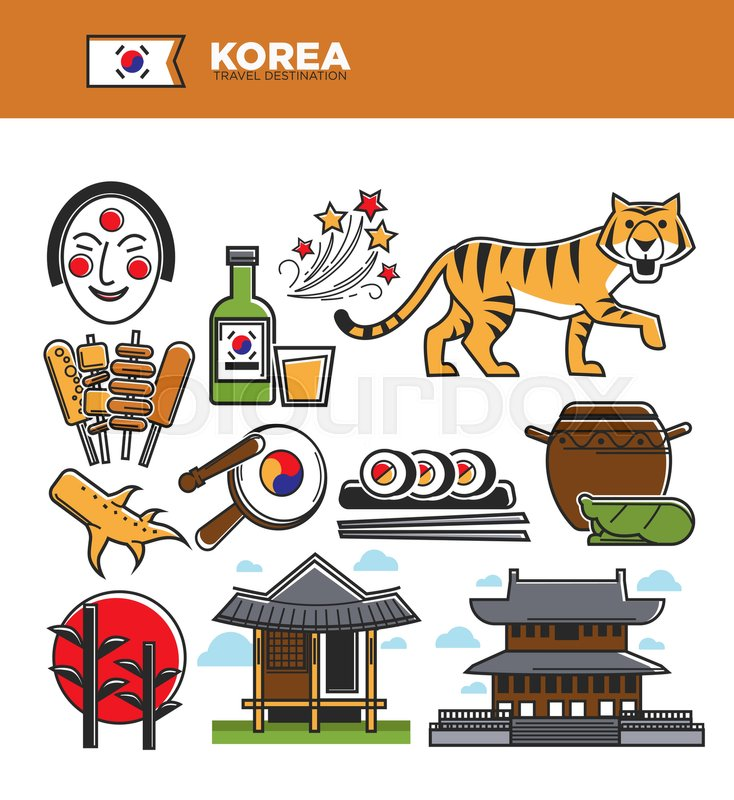 Korea Travel Famous Landmark Symbols And Culture Tourist Attraction