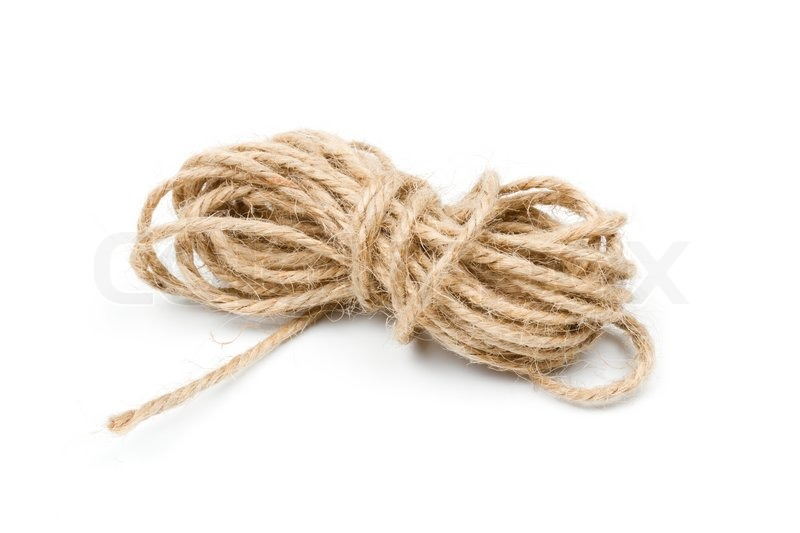 Twine clew, rope, brown string | Stock Photo | Colourbox