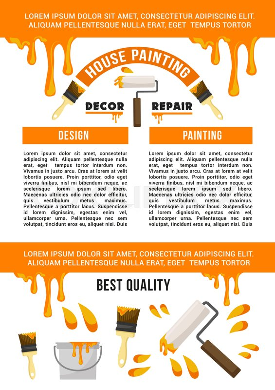 Home Repair And House Painting Service Banner Template Work Tool