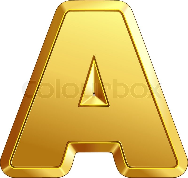 stock vector of vector gold letter a