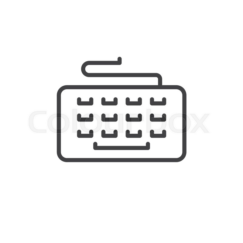 Typing Keyboard Line Icon Outline Vector Sign Linear Style