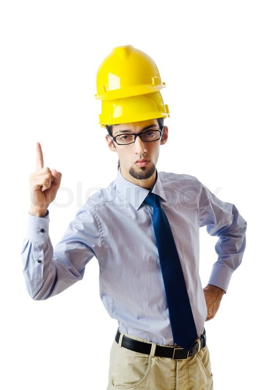 Construction safety concept with builder | Stock Photo ...