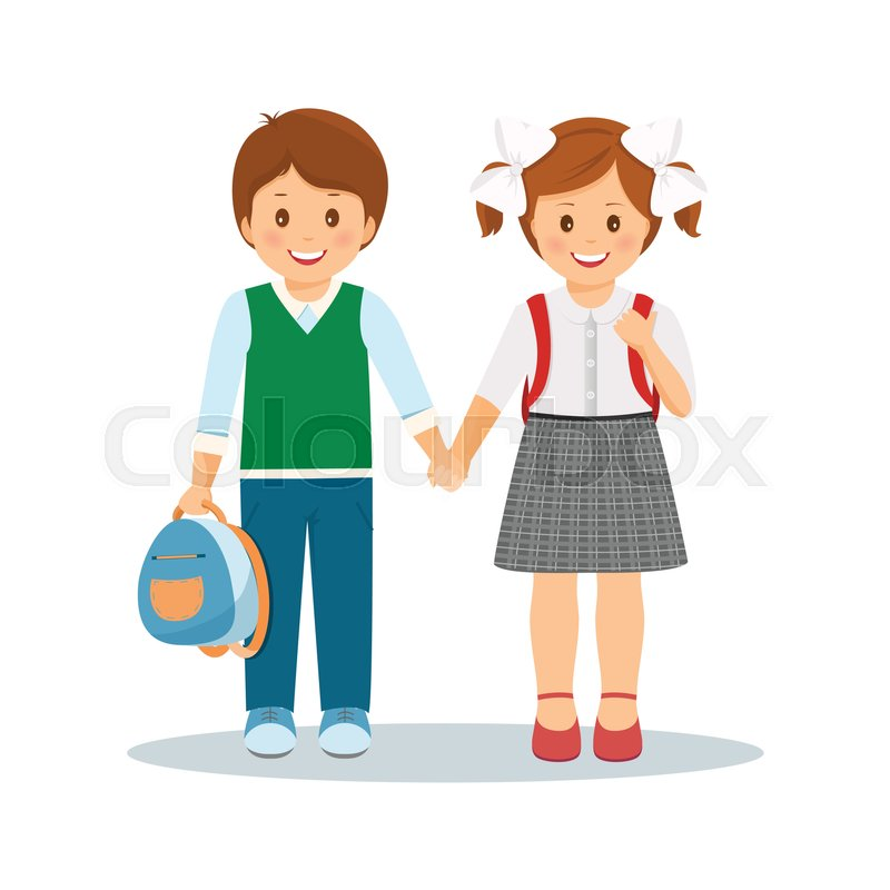 Child Showing Love Png - Boy And Girl Holding Hands Clipart - Free  Transparent PNG Clipart Images Download
