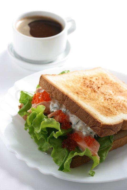 Healthy Fast Food Breakfast Sandwich