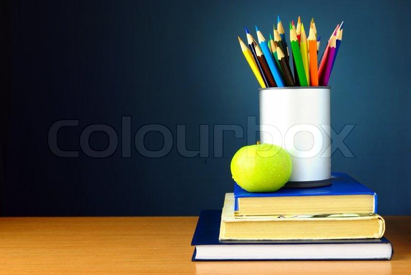 Stock image of \'school, books, equipment\'