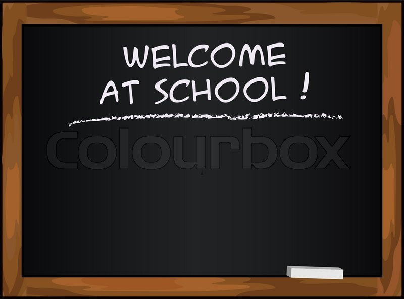 Blackboard black - welcome at school chalkboard vector ...
