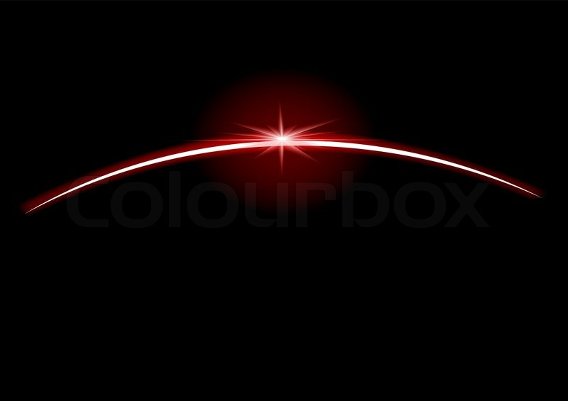 Rising Star Over The Pla  Vector Space Background Vector 2800689 on light shining star