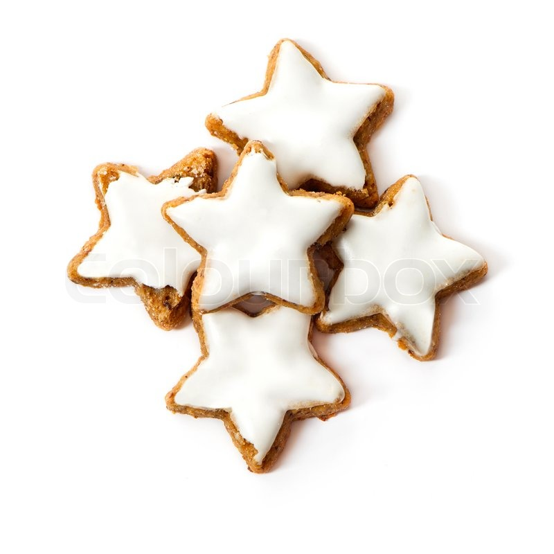 typical christmas cinnamon star cookies isolated on white stock photo colourbox
