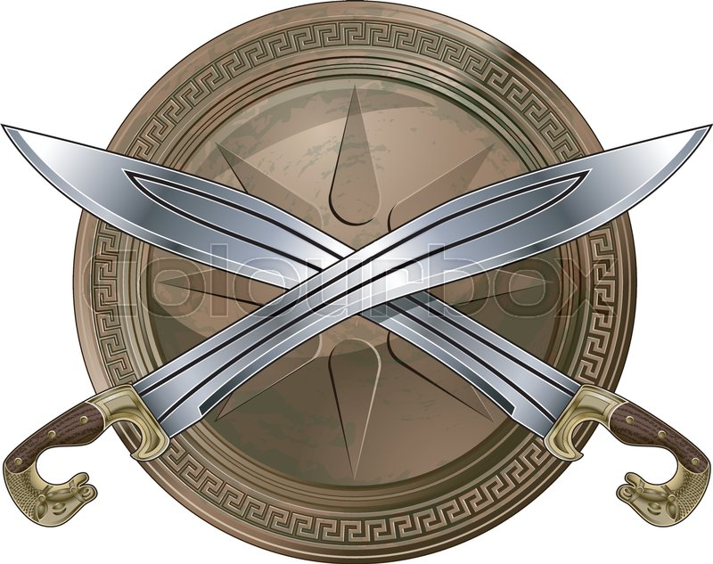 Greek Shield And Sword