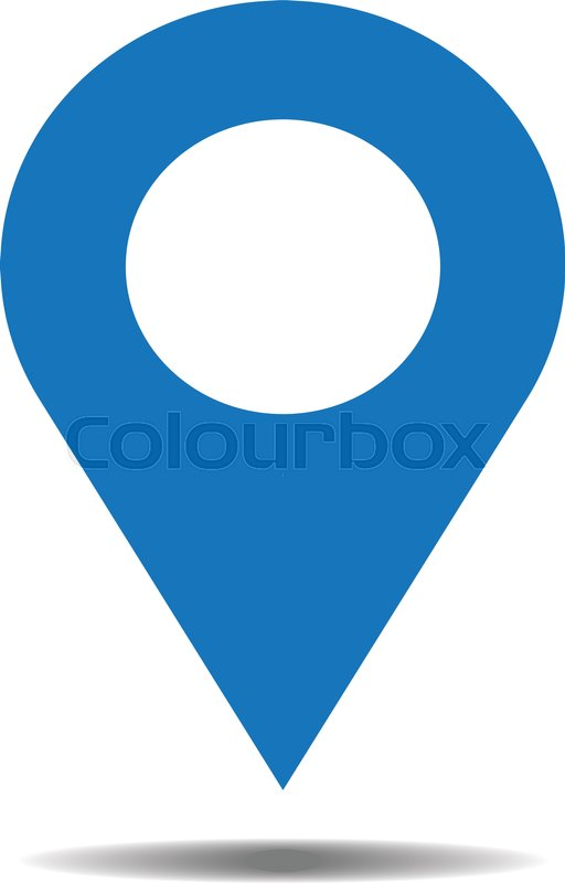 Location Blue Icon Vector Pin Sign Isolated On White Background Navigation Map Gps Direction