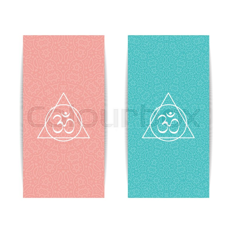 Yoga Banner Template Set Of Vertical