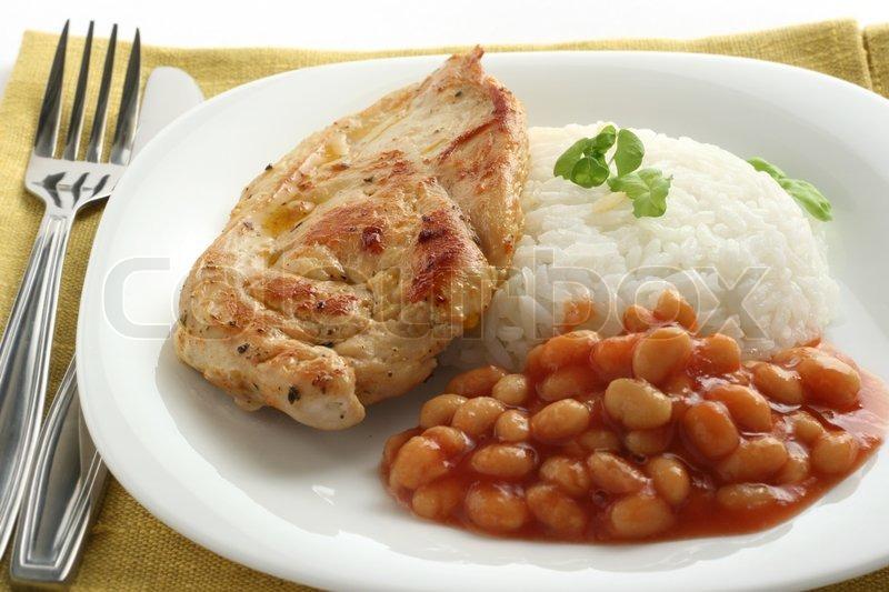 Жареная курица с рисом рецепт с фото
