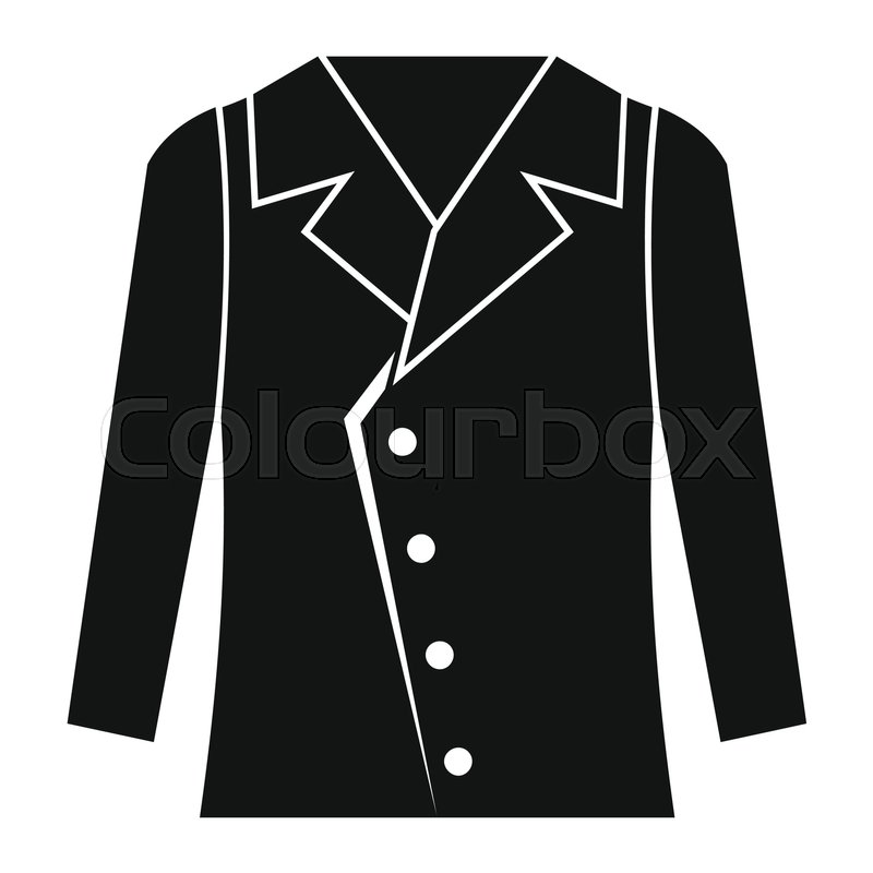 d8a51d3119b5 Stock vector of 'Jacket in black simple silhouette style icons vector  illustration for design and