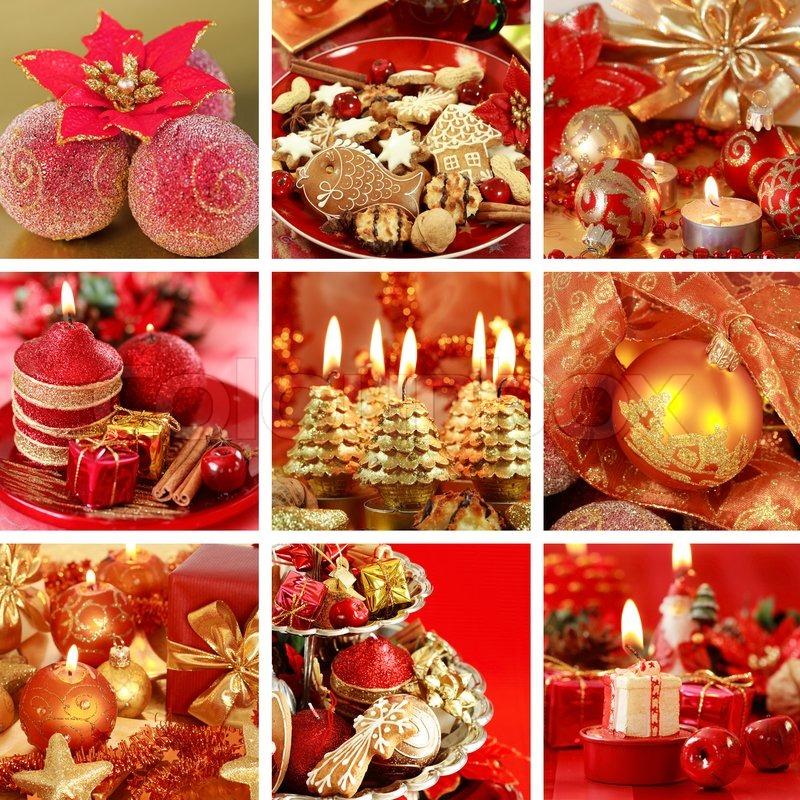 sammlung von neun leben noch fotos zu weihnachten in rot. Black Bedroom Furniture Sets. Home Design Ideas