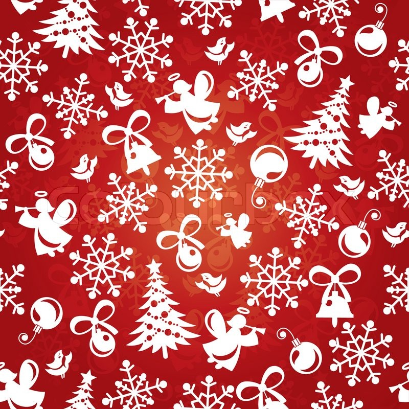 Abstract Seamless Red Christmas Background Vector