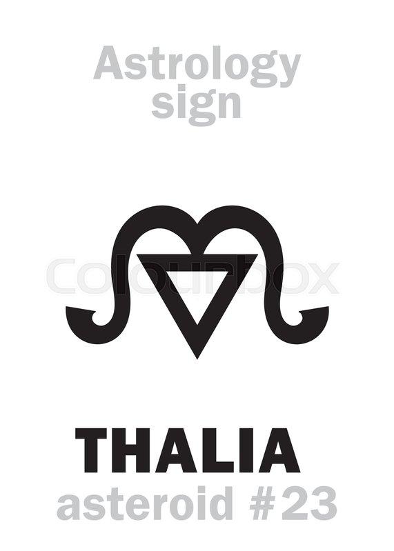 Astrology Alphabet: THALIA (muse of     | Stock vector
