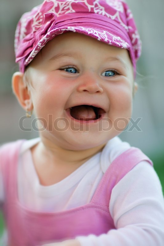 Cutest baby girl in the world laughing