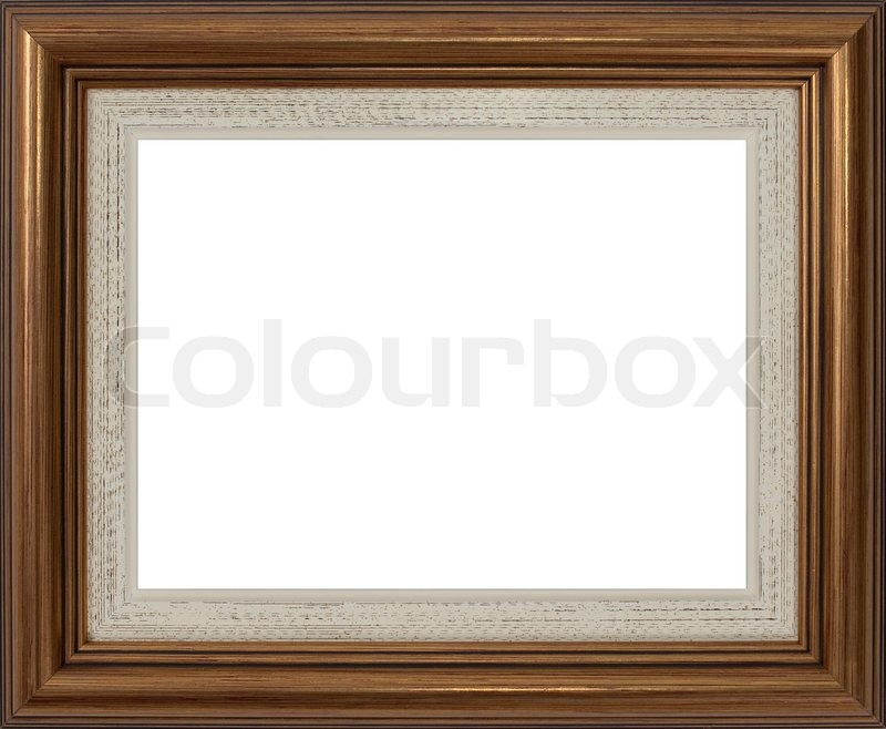 Wooden frame for paintings or photographs | Stock Photo | Colourbox