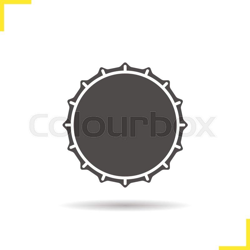 beer bottle cap icon drop shadow silhouette symbol negative space rh colourbox com beer bottle cap vector free bottle cap vector free