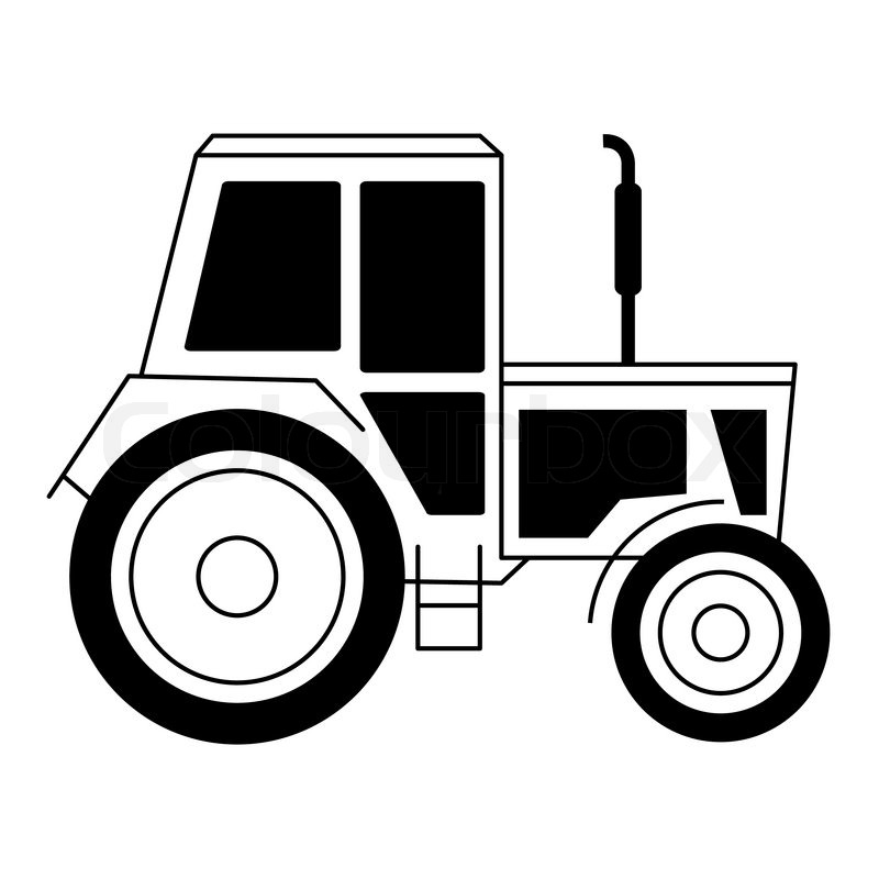 Vector illustration with a tractor | Stock Vector | Colourbox