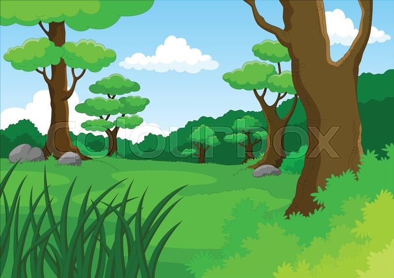 Vector Cartoon Illustration Of Jungle Stock Vector Colourbox