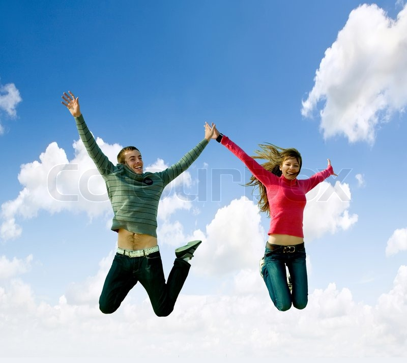 Image result for images of men and women jumping for joy
