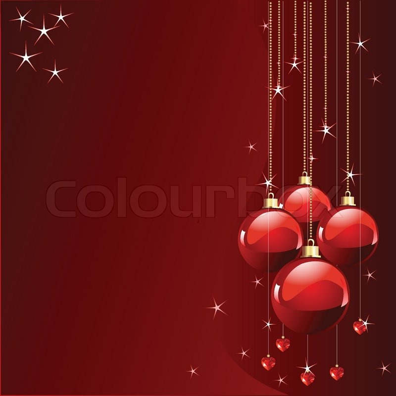 Stock vector of 'Red colors Christmas and New Year's place card'
