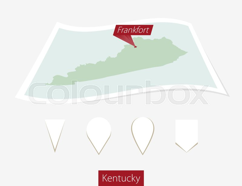 Curved paper map of Kentucky state ... | Stock vector | Colourbox on massachusetts state map, tennessee map, maine state map, tenn state map, u.s map, maryland state map, louisiana on us map, south dakota state map, indiana map, kentucky capitol building, arizona state map, new york state map, arkansas state map, texas state map, louisiana state map, pennsylvania state map, minnesota map, virginia state map, colorado state map, louisville map,