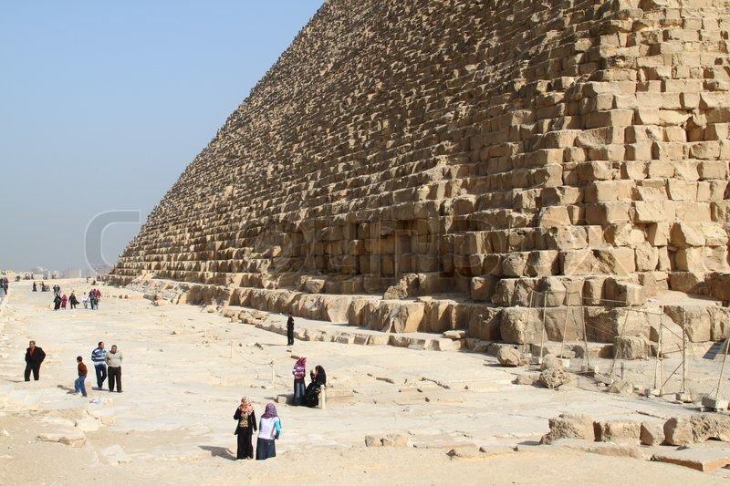 Stock image of 'Pyramids, Giza, Egypt'
