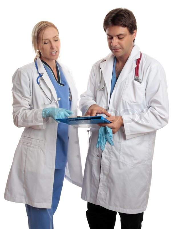 White medical gloves