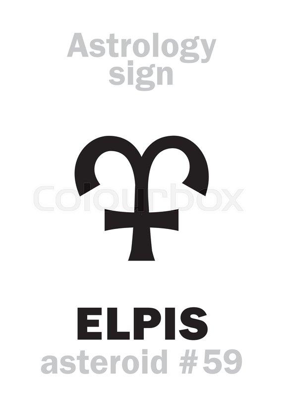 Astrology Alphabet: ELPIS (Hope),     | Stock vector | Colourbox
