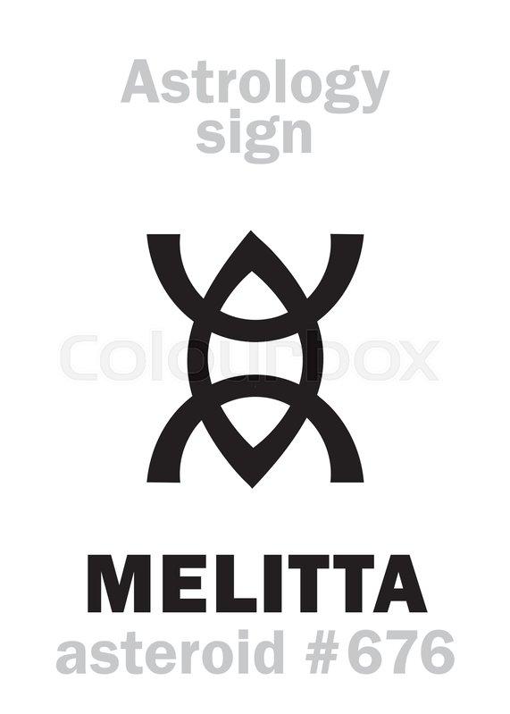 Astrology Alphabet: MELITTA (Melissa),     | Stock vector