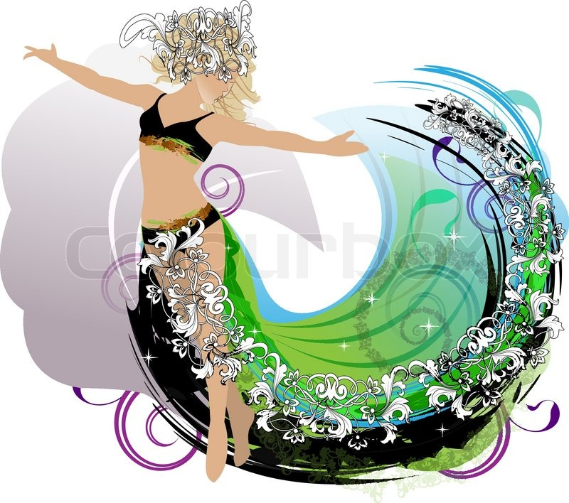 fe8d630d0 An abstract dance girl with decorative ... | Stock vector | Colourbox