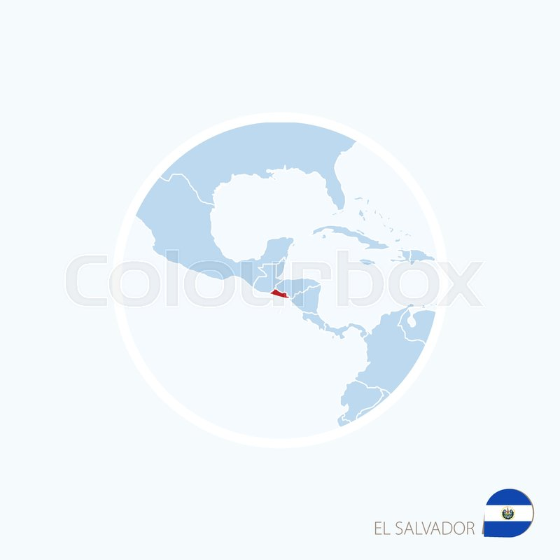 Map icon of el salvador blue map of central america with map icon of el salvador blue map of central america with highlighted el salvador in red color vector illustration stock vector colourbox gumiabroncs Images