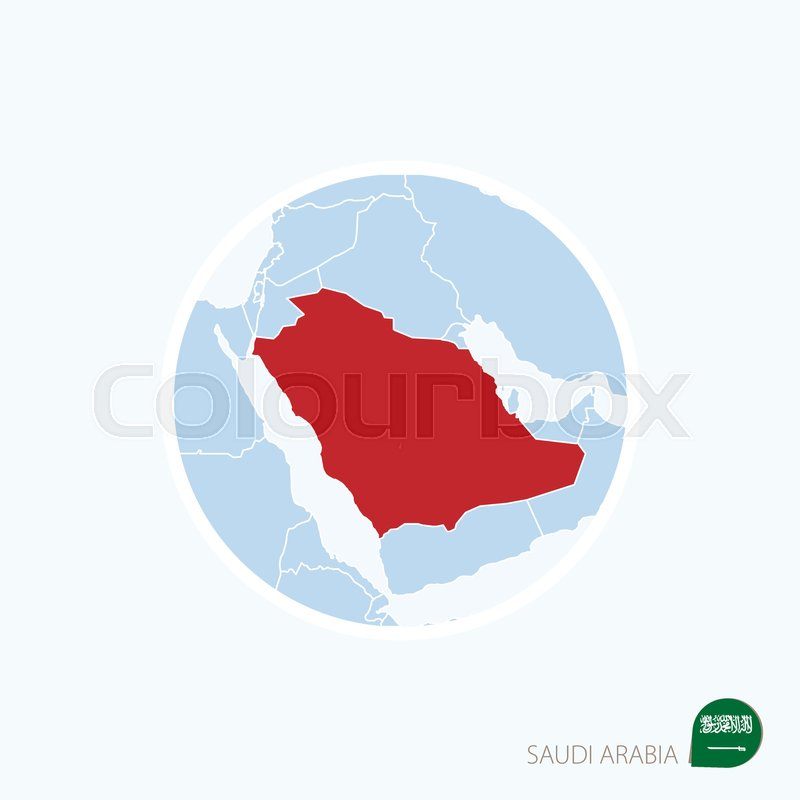 Map icon of Saudi Arabia. Blue map of ... | Stock vector ...