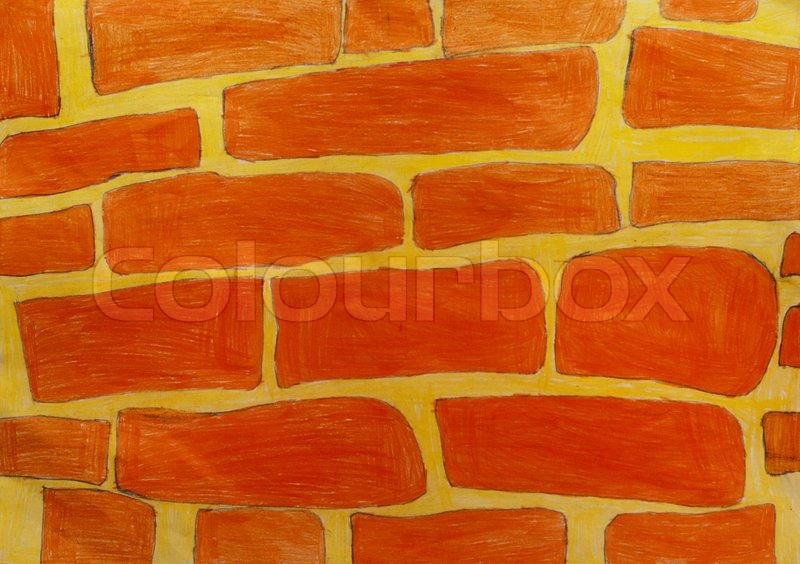 Texture Painting A Brick Wall Stock Image Colourbox