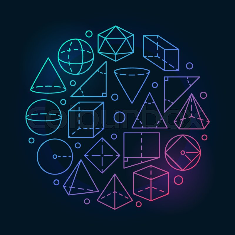 Geometry Mathematics Colorful Illustration Vector Concept Round