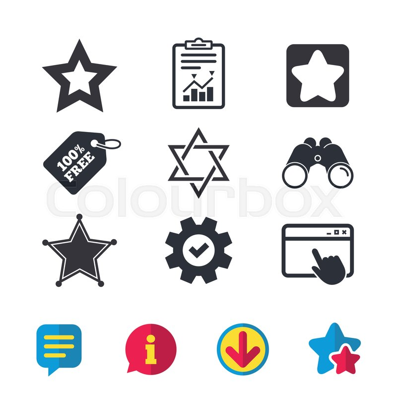 Star Of David Icons Sheriff Police Sign Symbol Of Israel Browser